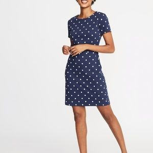 Old Navy Polka Dot fitted Sheath Dress